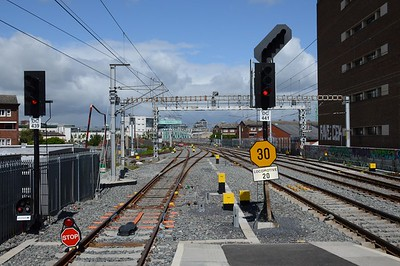 Track work at Grand Canal Dock 2 July 2016
