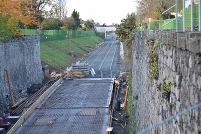 Luas XC Broadstone cutting looking north 17 November 2016