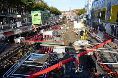 Luas XC works O'Connell St 16 November 2016
