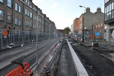 Luas XC track Dominick St Upper 17 November 2016