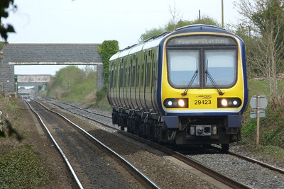 29423 approaches Rush and Lusk with the 13:05 Drogheda to Dublin Pearse. Wednesday, 06/04/11