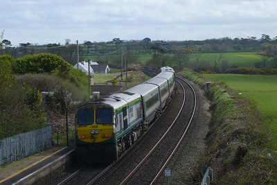 228 with the 12:35 Belfast Central to Dublin Connolly, Gormanston, Monday, 04/04/11
