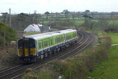 2808 departing Gormanston, Monday, 04/04/11