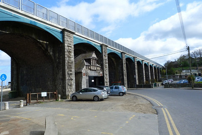 The magnificent viaduct in Balbriggan which carries the railway line over the harbour and river valley. Thursday, 07/04/11
