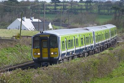 2817 arriving with the 13:28 Dublin Pearse to Drogheda. Gormanston, Monday, 04/04/11