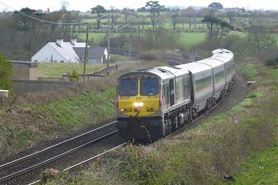 207 with the 13:20 Dublin Connolly to Belfast Central Enterprise service. Gormanston, Monday, 04/04/11