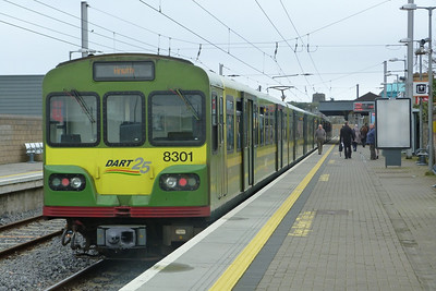 Class leader 8301 at Howth, the terminus of one part of the DART network. Thursday, 07/04/11