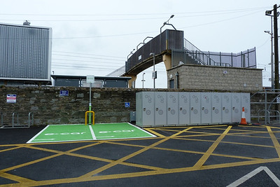 Facilities at the Sutton Station on the Howth branch, which include bicycle lockers and electrical charging points. Monday, 09/04/12