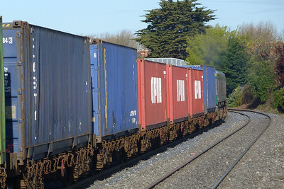 The containers head west. Drumcondra, Wednesday, 11/04/12