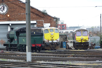 461, 076 and 207 at the shed at Dublin Connolly, Saturday, 07/04/12