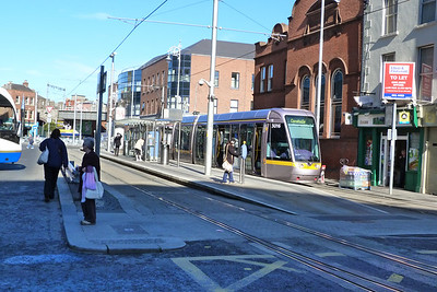 3016 at the Busaras stop on a service to Connolly. Wednesday, 11/04/12