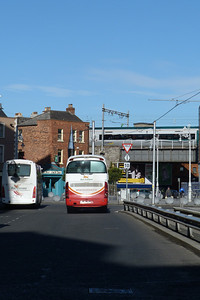 Two Bus Eireann buses and a 22000 at Store Street, Wednesday, 11/04/12
