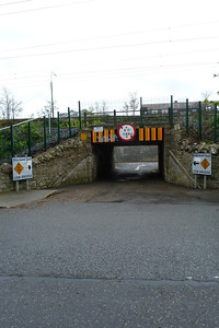 A low underbridge on the Howth branch at Claremount Road, Monday, 09/04/12