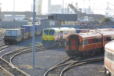 234 recently repainted and seen here in North Wall Yard, waiting to haul the IWT liner to Ballina later in the morning. Thursday, 05/04/12