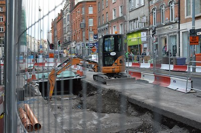 Luas cross city Grafton St 21 April 2016
