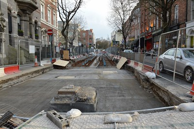 Luas cross city on Dawson St 21 April 2016