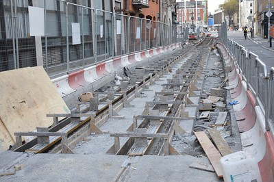 Luas cross city Hawkins St 21 April 2016