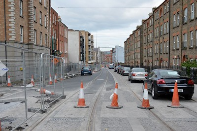 Luas XC looking south in Dominick St 27 April 2017