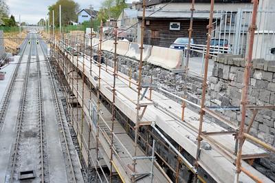 Luas XC Navan Road wall works 27 April 2017