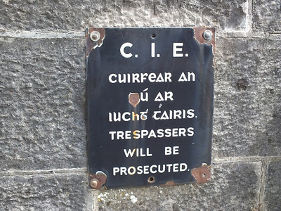 CIÉ sign at Longford 3 August 2013