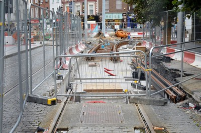 Luas XC St Stephens Green 4 August 2016 Green line is nearly connected!