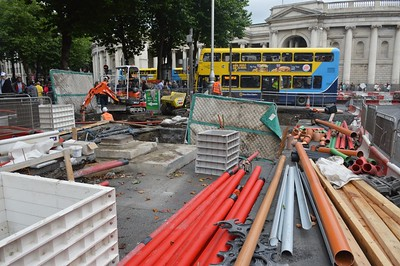 Luas XC works College Green 23 August 2016