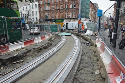 Luas XC works Grafton St 23 August 2016
