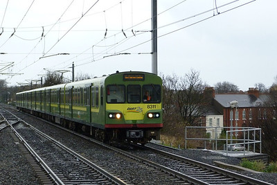 8311 arrives into Clontarf Road with a southbound service to Greystones, Thursday, 08/12/11