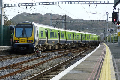29412 departs Bray as it continues south, Thursday, 08/12/11