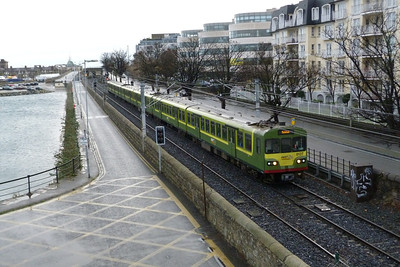 8127 passing the marina at Dun Laoghaire with a service to Howth.  Thursday, 08/12/11