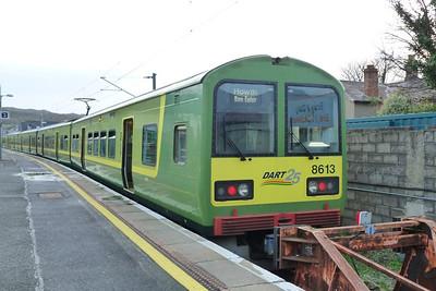 8613 resting in the Greystones Bay Platform at Bray, Thursday, 08/12/11