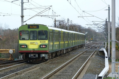 8339 departs Clontarf Road with a northbound service to Malahide, Thursday, 08/12/11