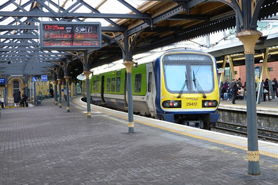 29412 about to form the 13:36 to Rosslare Europort, Dublin Connolly, Thursday, 08/12/11