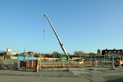 Construction of bridge at Broadstone 21 December 2015
