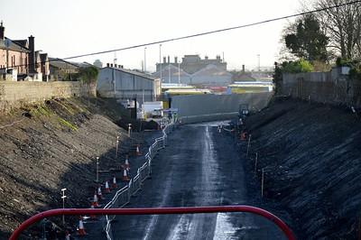 Broadstone Cutting towards garage 21 December 2015