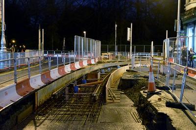 Luas works on Dawson St 12 December 2015