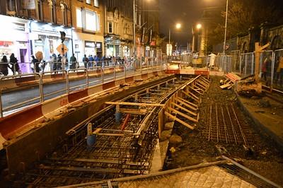 Luas works on Grafton St 12 December 2015