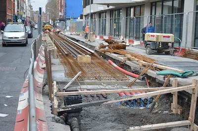 Track work on Marlborough St 19 December 2015