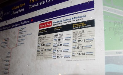 Heuston Red Line Luas Timetable 21 December 2018