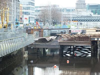 Marlborough St Bridge 23 February 2012 Detail of the works.