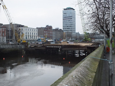 Marlborough St Bridge 23 February 2012 view from Burgh Quay side of the Liffey.