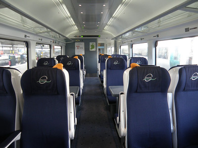 Interior of 22139 Premier Class carriage 4 February 2013