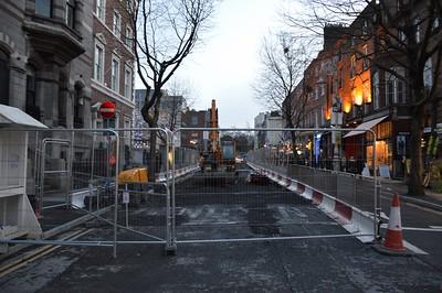 Luas works on Dawson St 6 February 2016