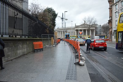 Luas XC new College St stop 25 February 2017