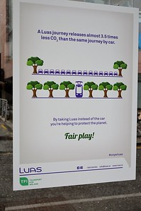 Luas notice St Stephens Green 25 February 2017