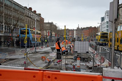 Luas XC works O'Connell St 25 February 2017