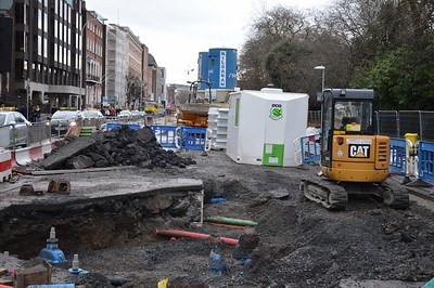 Luas XC St Stephens Green ground works 25 February 2017
