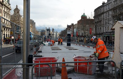 Luas XC O'Connell St stop 4 February 2017