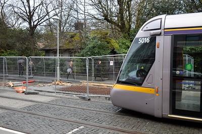 Platform extension works at St Stephens Green 25 February 2017