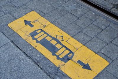 Tram warning Abbey St 3 January 2015